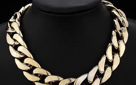 Mohutný náhrdelník ve zlaté barvě - dodání do 2 dnů