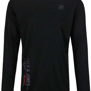 Černé sportovní triko s dlouhým rukávem Jack & Jones Lift