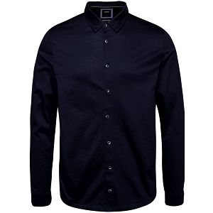 Tmavě modrá košile s dlouhým rukávem Burton Menswear London