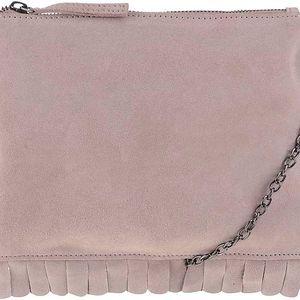 Béžová kožená crossbody kabelka Vero Moda Olga