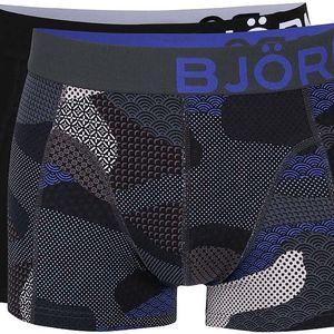 Sada dvou černých a šedých boxerek Björn Borg