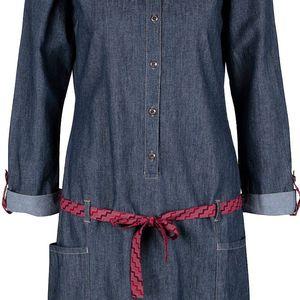 Modré denimové košilové šaty s páskem Tranquillo Magna