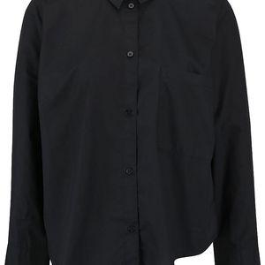 Černá dámská oversize asymetrická košile Cheap Monday Force