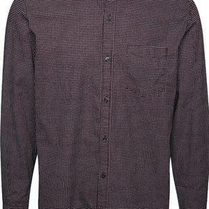 Vínová pánská regular fit košile se vzorem a kapsou s.Oliver