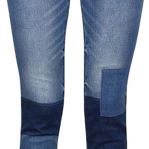 Modré džíny s tmavými koleny VILA