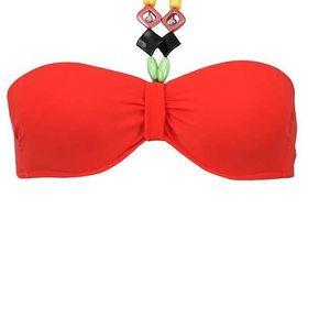 Červené plavky s barevnými korálky Relleciga Rellicious