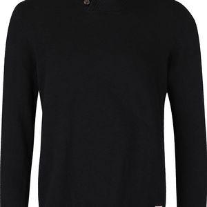 Černý svetr s límcem Jack & Jones Austin