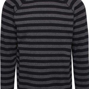 Černý pánský pruhovaný svetr Casual Friday