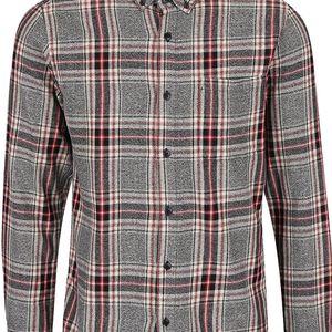 Červeno-šedá károvaná košile ONLY & SONS Tristan