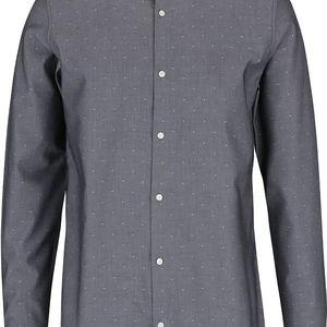 Tmavě šedá neformální košile se vzorem Jack & Jones Jake