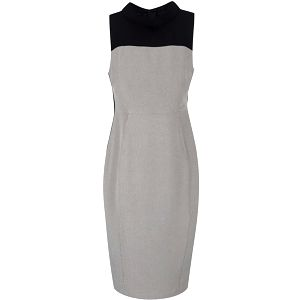 Černo-šedé pouzdrové šaty Dorothy Perkins