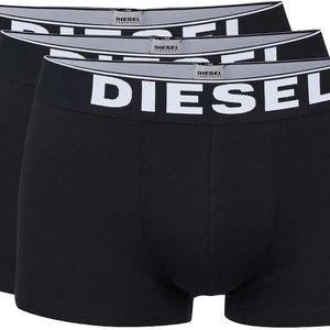 Sada tří boxerek s dlouhou nohavičkou v černé barvě Diesel