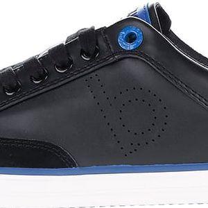 Černé pánské tenisky s modrými detaily bugatti