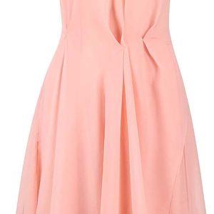Růžové šifónové šaty French Connection Sunray