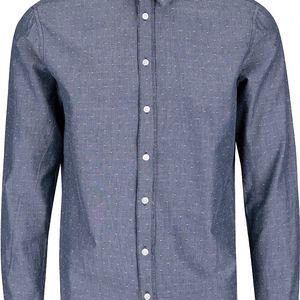 Modrošedá vzorovaná košile Casual Friday