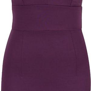 Fialové elastické šaty s průstřihem na zádech Miss Selfridge