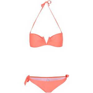 Neonově oranžové dvoudílné plavky Relleciga