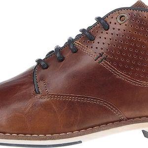 Světle hnědé pánské kožené kotníkové boty Bullboxer