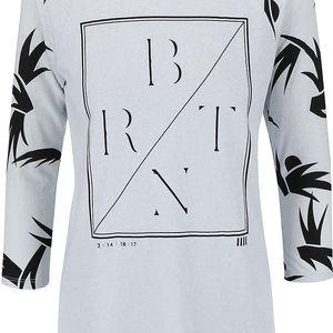Šedé dámské tričko Burton Morton Raglan