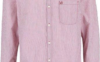 Bílo-vínová pánská košile s.Oliver