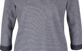 Šedo-modré dámské pruhované tričko s tříčtvrtečním rukávem s.Oliver