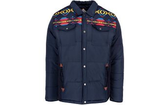Tmavě modrá pánská bunda s aztéckými vzory Bellfield Foxley