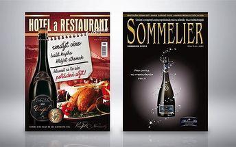 Až roční předplatné časopisu Sommelier a Revue pro Hotel a Restaurant (a cestování)