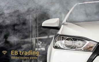 Sleva 1 100 Kč na čištění interiéru vozu suchou párou v pražském EB trading CZ