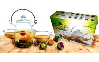 Dárkový set na kvetoucí čaj Blooming Tea