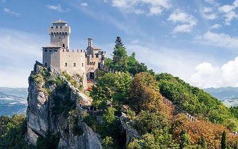 Nákupy v San Marinu a Rimini s koupáním
