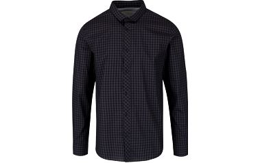 Tmavě šedá kostkovaná košile Jack & Jones Gingham