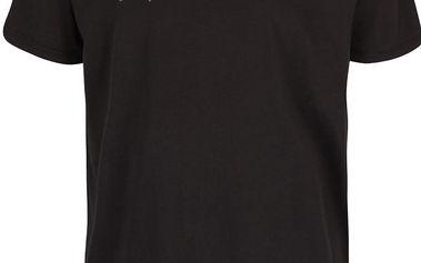 Tmavě šedé pánské triko s přeškrtnutým nápisem Quiksilver Garm