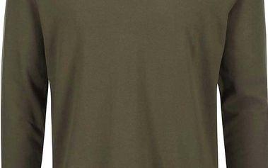 Olivově zelené polo triko s dlouhým rukávem Ben Sherman
