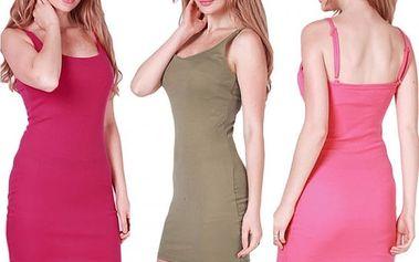Jednoduché šaty na ramínka Tina
