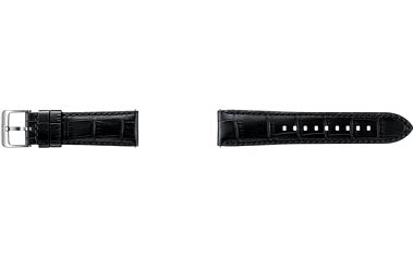 Výměnný pásek Samsung kožený pro Gear S3 Aligator (ET-YSA76MBEGWW) černý