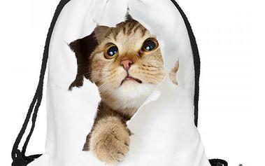 Vak na záda s nápaditým motivem koček - více variant