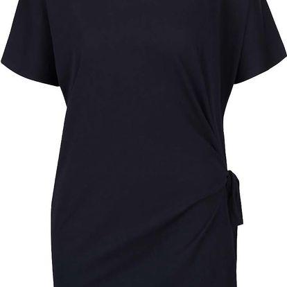 Tmavě modré volnější tričko s vázáním na boku gsus