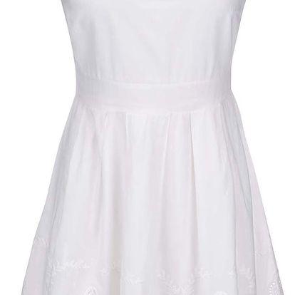 Krémové šaty VILA Spukka