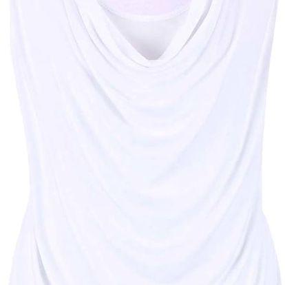 Bílý dámský top s prověšeným výstřihem Bench Duple