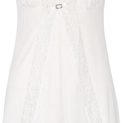 Krémová krajková noční košilka Eldar Neva