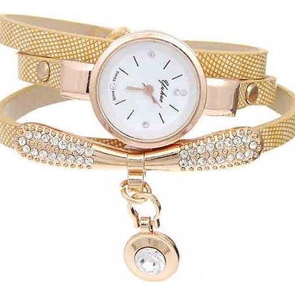Dámské několikavrstvé hodinky s přívěskem