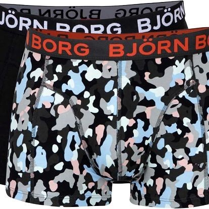 Sada dvou boxerek v černé a vzorované kombinaci Björn Borg