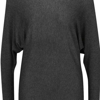 Tmavě šedý svetr s netopýřími rukávy ONLY Philo