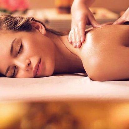 40minutová relaxační masáž zad a šíje dle výběru