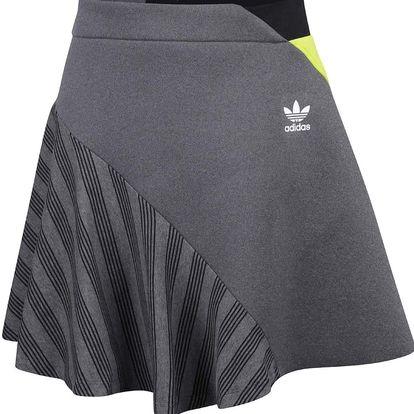 Šedá sukně s neonově žlutým detailem adidas Originals