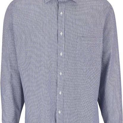 Tmavě modrá pruhovaná pánská košile s detaily Seven Seas