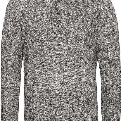 Šedý pánský svetr na knoflíky s.Oliver