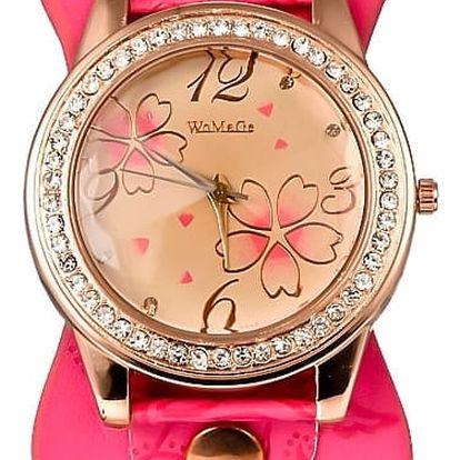 Moderní hodinky s motivem květin