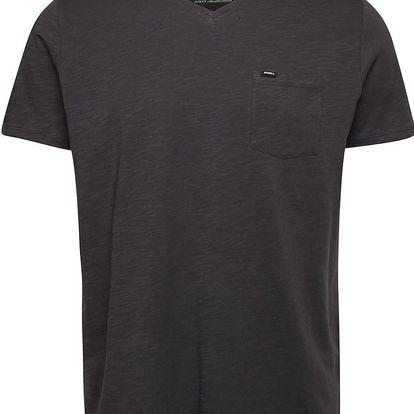 Tmavě šedé pánské žíhané triko s kapsou O'Neill Jack's base