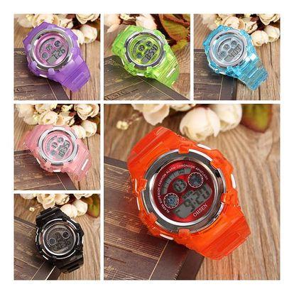 Unisex silikonové digitální hodinky